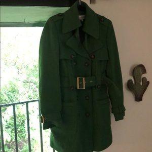 Green Calvin Klein coat